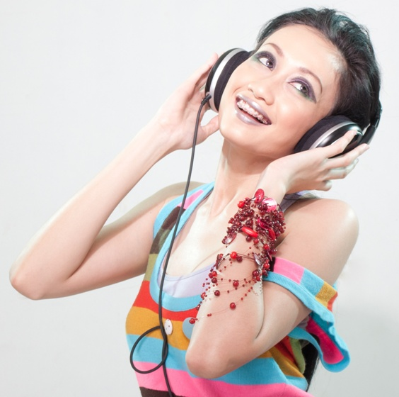Girl with headphones Free Fotolia Image Girl Listening to Music